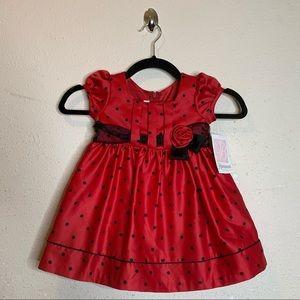 Bonnie Jean Red Polkadot Holiday Dress